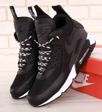 Мужские утепленные кроссовки в стиле Nike Air Max 90 Sneakerboot Winter,  фото 2 2dd528c2dc2
