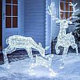 "Новогодняя скульптура ""Олени"" 56 LED, фото 4"