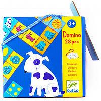 Игра Djeco Домино детское Цвета животных DJ08111