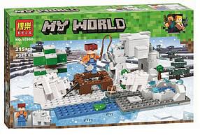 Конструктор Bela 10960 Майнкрафт Зимняя рыбалка (аналог Lego Minecraft)