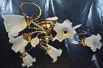 Класична люстра припотолочная на 6 ламп букет в золоті