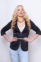 Пиджак женский, цвет: черный, размер: M, XL