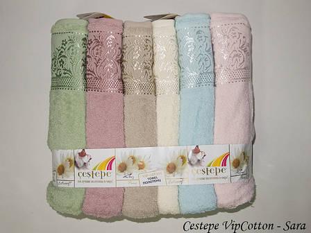 Набор полотенец Cestepe. Vip Cotton Sara 50х90 6шт, фото 2