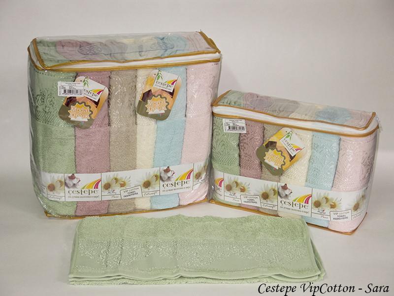 Набор полотенец Cestepe. Vip Cotton Sara 50х90 6шт