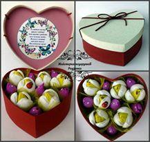 Подарунковий набір серце з цукерками. Світ бокс весняний