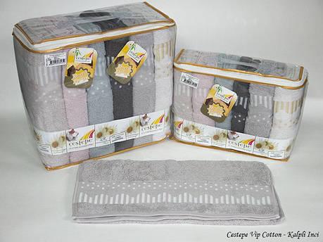 Набір рушників Cestepe. Vip Cotton Kalpli Inci 50х90 6шт, фото 2
