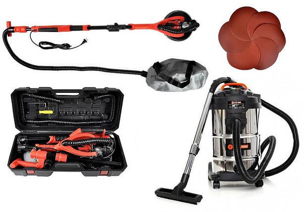 Шлифовальная машина BASS POLSKA BP-5463 + Пылесос BEST Tools OW1230AOF, фото 2