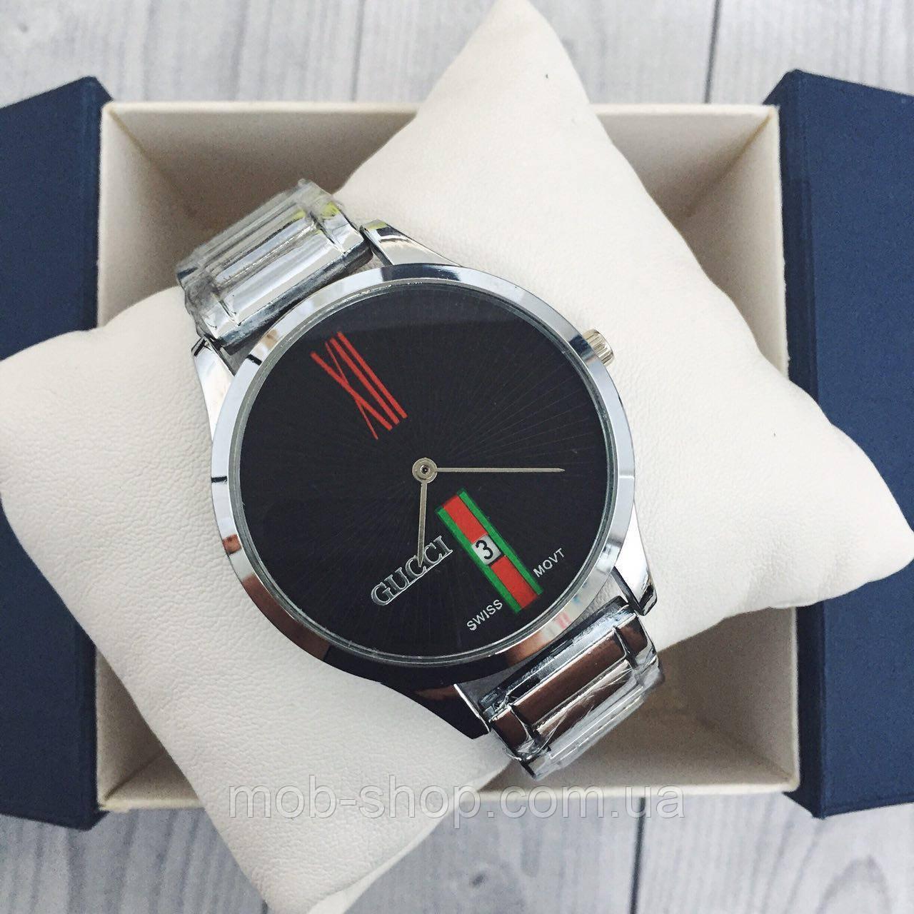 Наручные часы Gucci 9201 Silver-Black