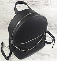 110-XL Натуральная кожа РАЗМЕР XL Городской рюкзак Кожаный рюкзак черный Рюкзак женский черный кожаный, фото 3