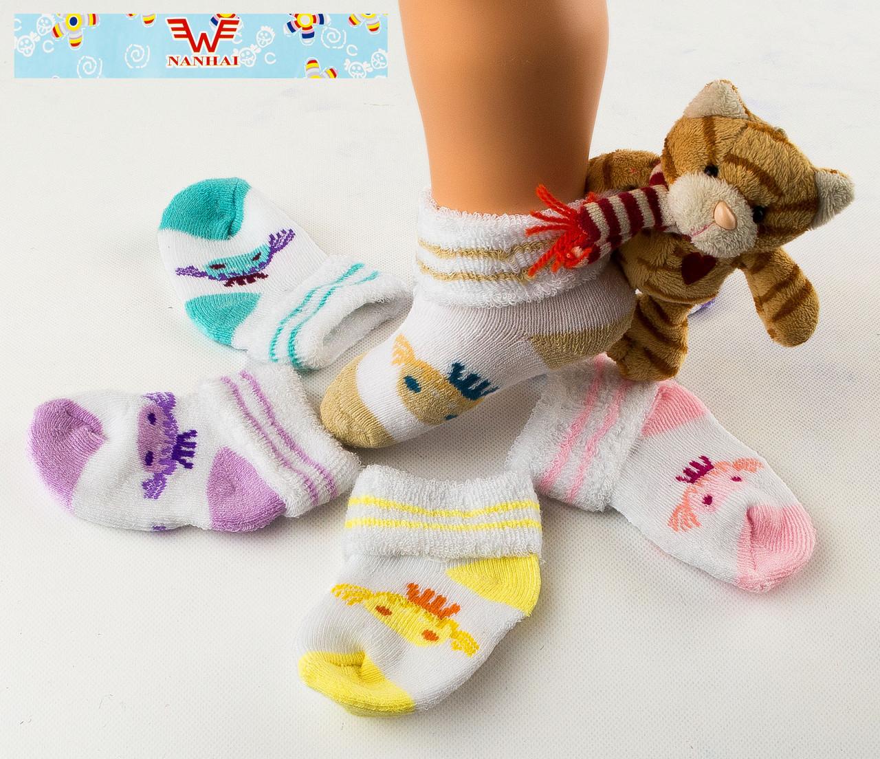 Детские носочки на махре для новорожденных Nanhai 305 Z. В упаковке 3