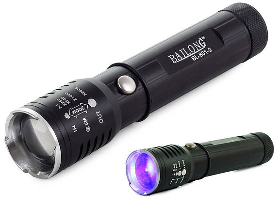 Ліхтар BAILONG CREE Q5 ORAZ + UV, фото 2