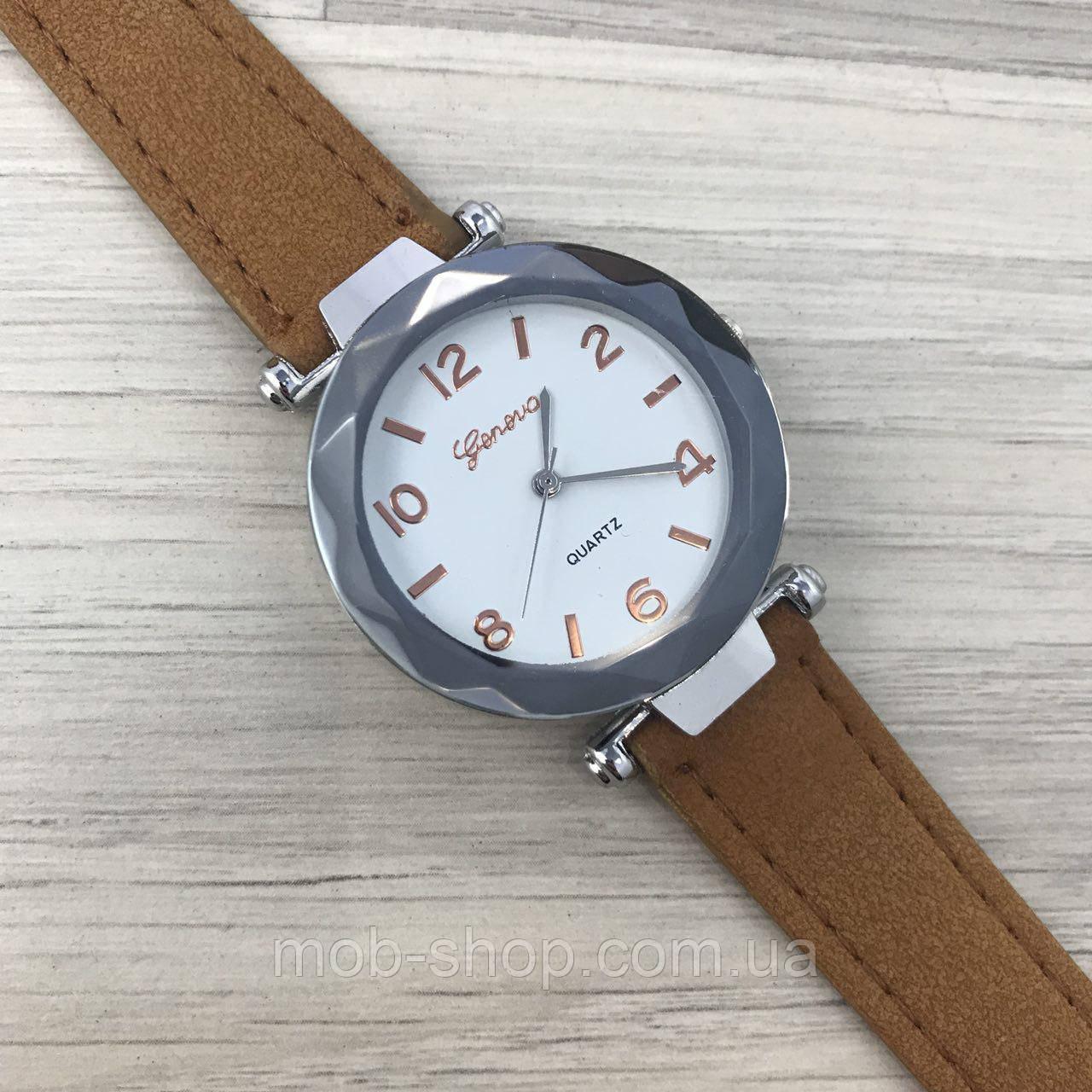 Наручные часы Geneva серебро кожзам