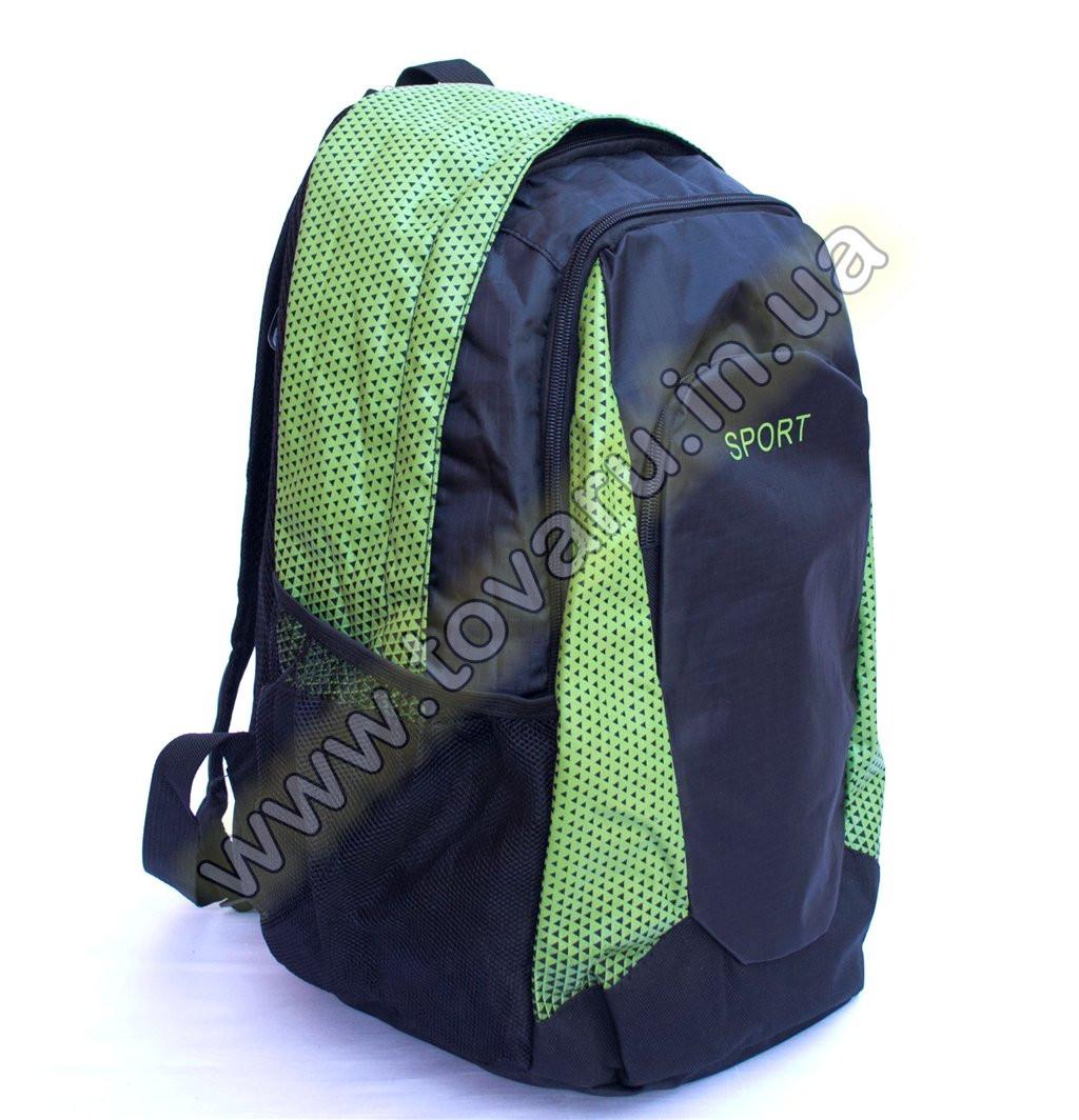 Оптом рюкзак спортивный - 8645 - Черно-салатовый