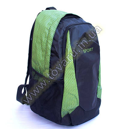 Оптом рюкзак спортивный - 8645 - Черно-салатовый, фото 2