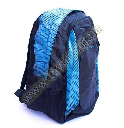 Оптом рюкзак спортивний - 8645 - Чорно-блакитний, фото 2