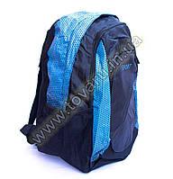 Оптом рюкзак спортивный - 8645 - Черно-голубой