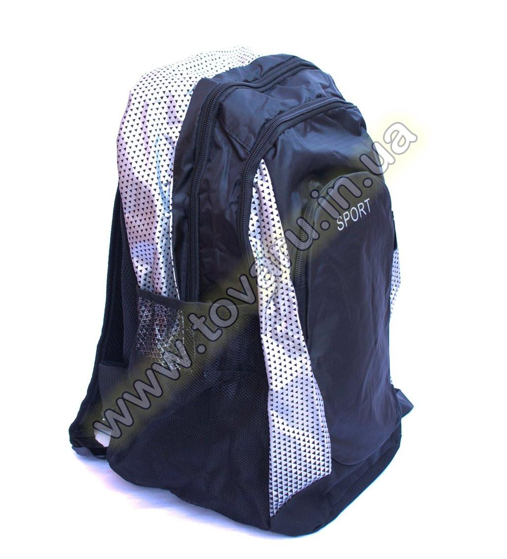 Оптом рюкзак спортивный - 8645 - Черно-серый