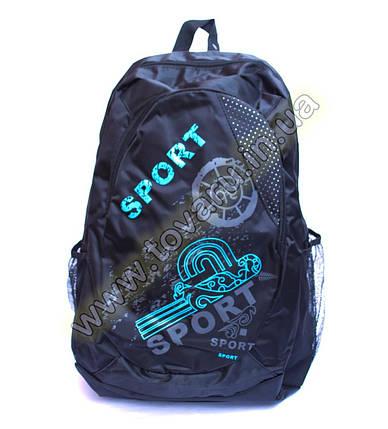Оптом рюкзак спортивний - 9916 - Чорно-блакитний, фото 2
