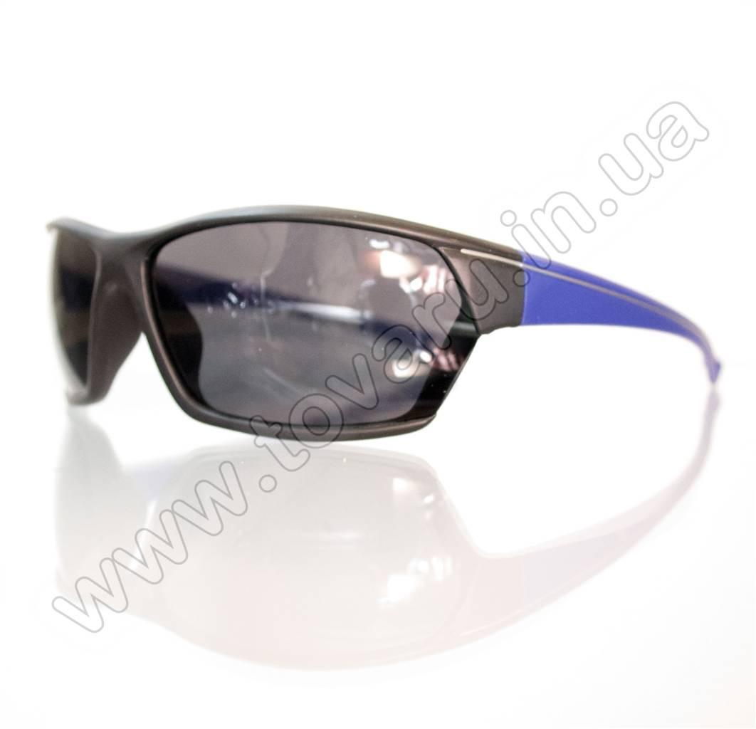 Оптом Очки мужские солнцезащитные спортивные - Черно-синие - 2035