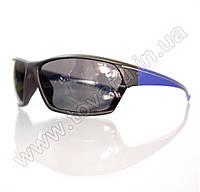 Оптом Очки мужские солнцезащитные спортивные - Черно-синие - 2035, фото 1