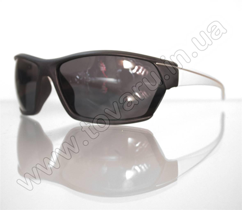 Оптом Очки мужские солнцезащитные спортивные - Черно-белые - 2035