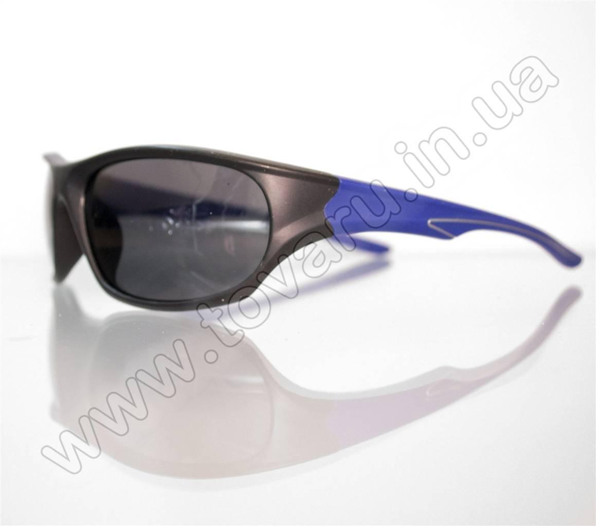Оптом Очки мужские солнцезащитные спортивные - Черно-синие - 2036