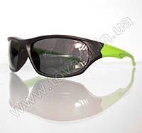 Оптом Очки мужские солнцезащитные спортивные - Черно-салатовые - 2036, фото 1