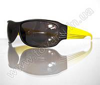 Оптом Очки мужские солнцезащитные спортивные - Черно-желтые - 2038, фото 1