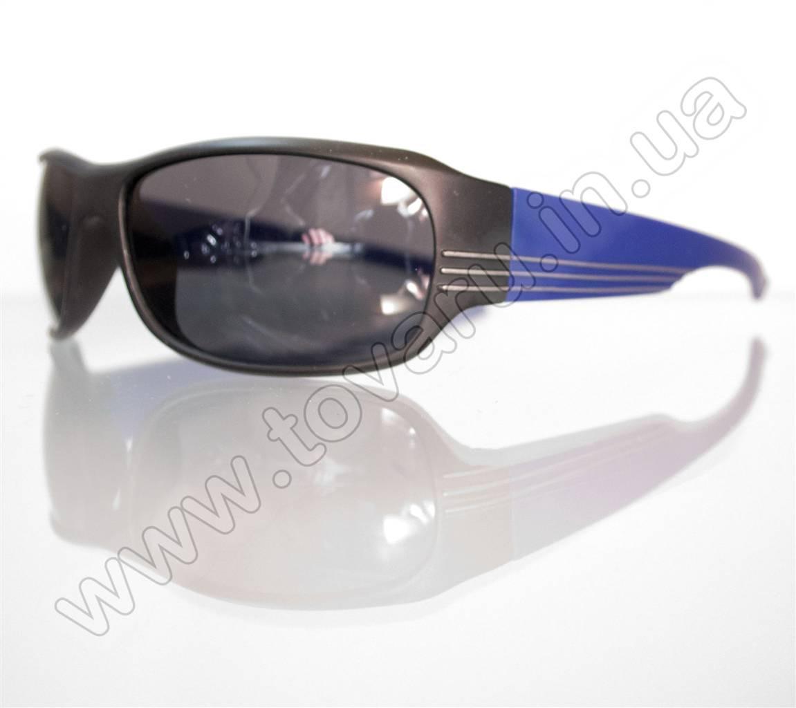 Оптом Очки мужские солнцезащитные спортивные - Черно-синие - 2038