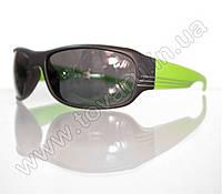 Оптом Очки мужские солнцезащитные спортивные - Черно-салатовые - 2038, фото 1