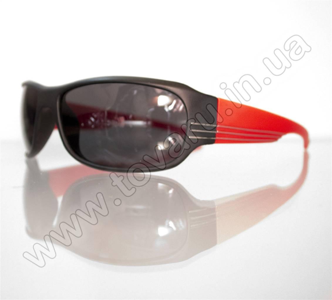 Оптом Очки мужские солнцезащитные спортивные - Черно-красные - 2038