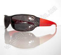 Оптом Очки мужские солнцезащитные спортивные - Черно-красные - 2038, фото 1