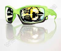 Оптом Очки мужские солнцезащитные спортивные - Салатовые - 2039, фото 1