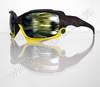 Оптом Очки мужские солнцезащитные спортивные - Черно-желтые - 2039, фото 1