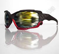 Оптом Очки мужские солнцезащитные спортивные - Черно-красные - 2039, фото 1
