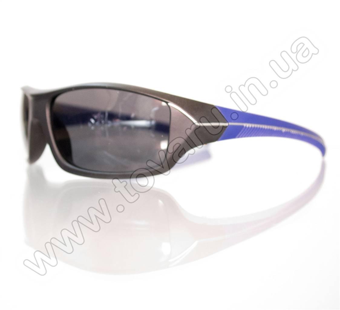 Оптом Очки мужские солнцезащитные спортивные - Черно-синие - 2069