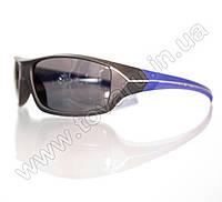 Оптом Очки мужские солнцезащитные спортивные - Черно-синие - 2069, фото 1