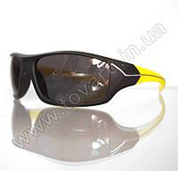 Оптом Очки мужские солнцезащитные спортивные - Черно-желтые - 2069