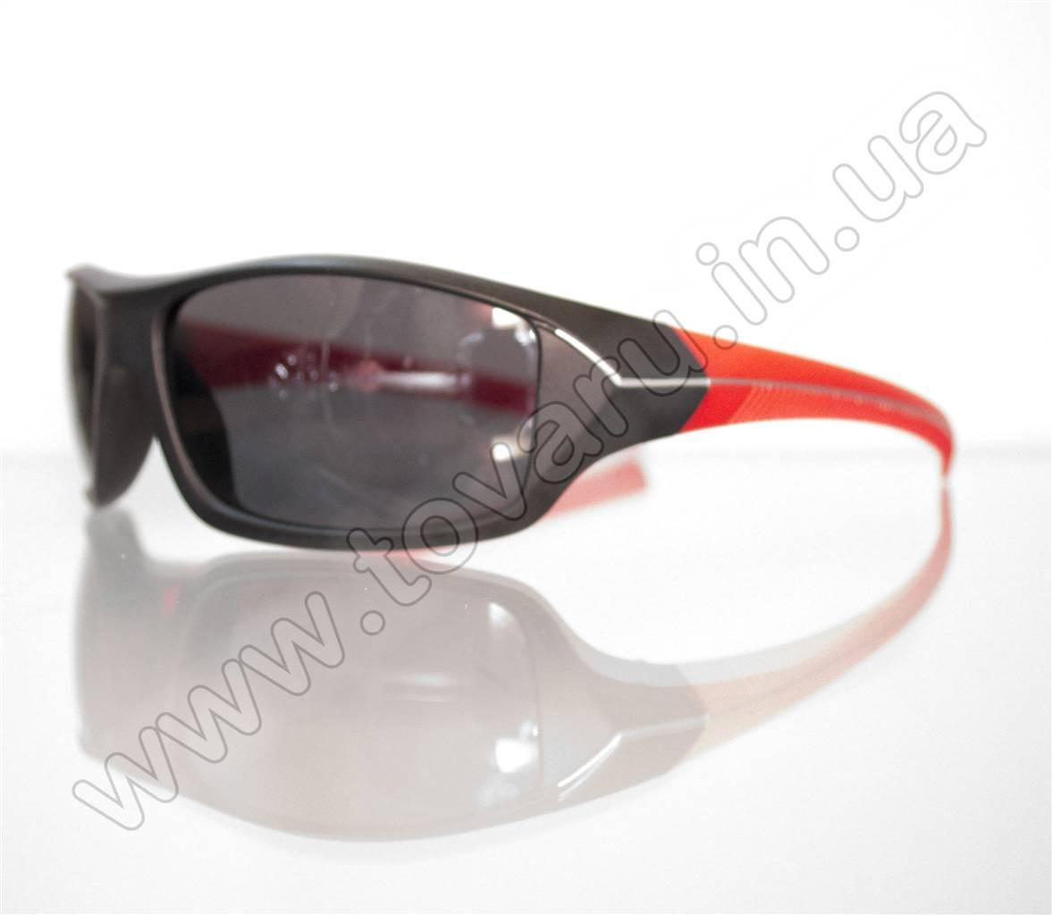 Оптом Очки мужские солнцезащитные спортивные - Черно-красные - 2069