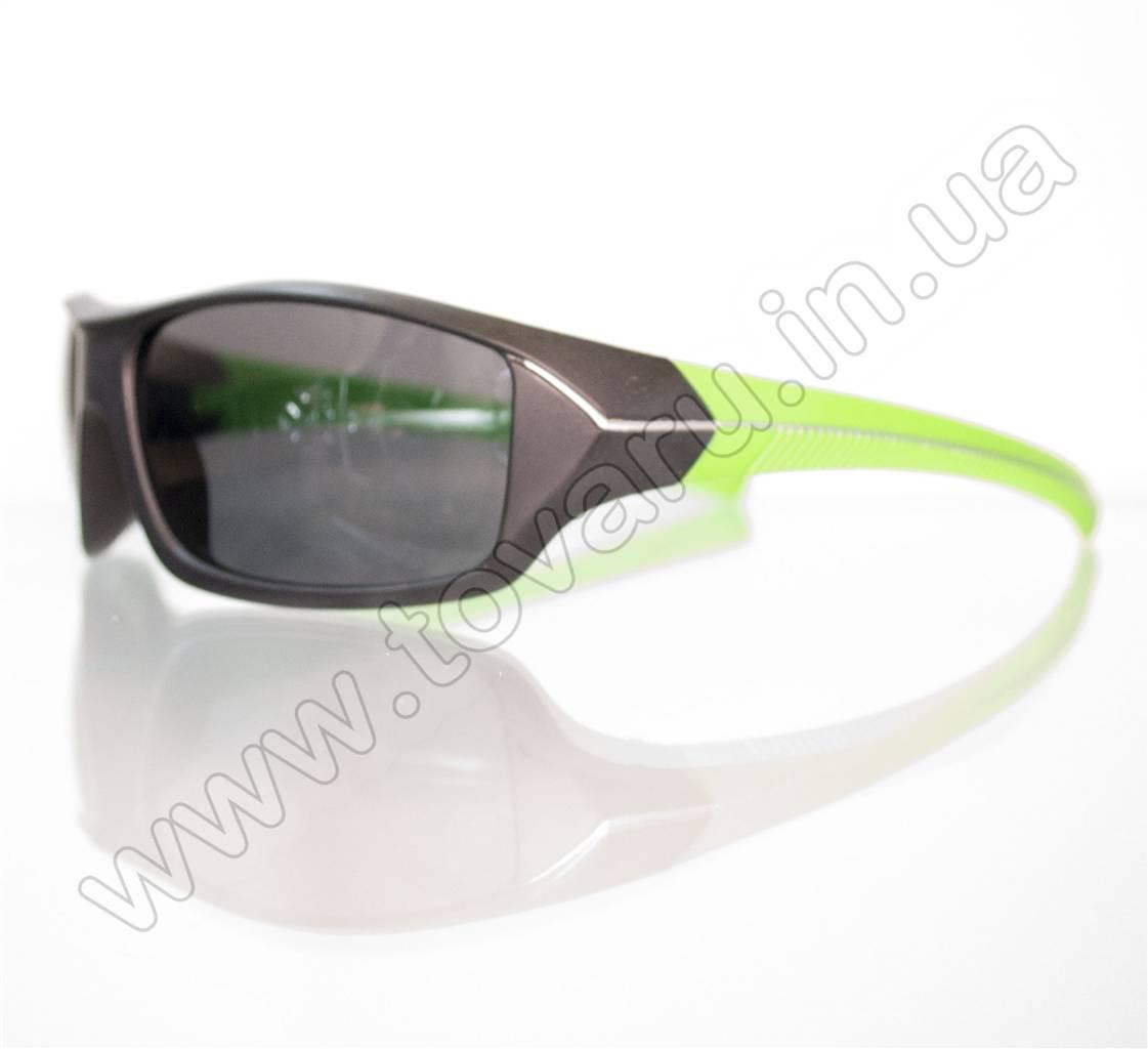 Оптом Очки мужские солнцезащитные спортивные - Черно-салатовые - 2069