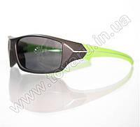 Оптом Очки мужские солнцезащитные спортивные - Черно-салатовые - 2069, фото 1