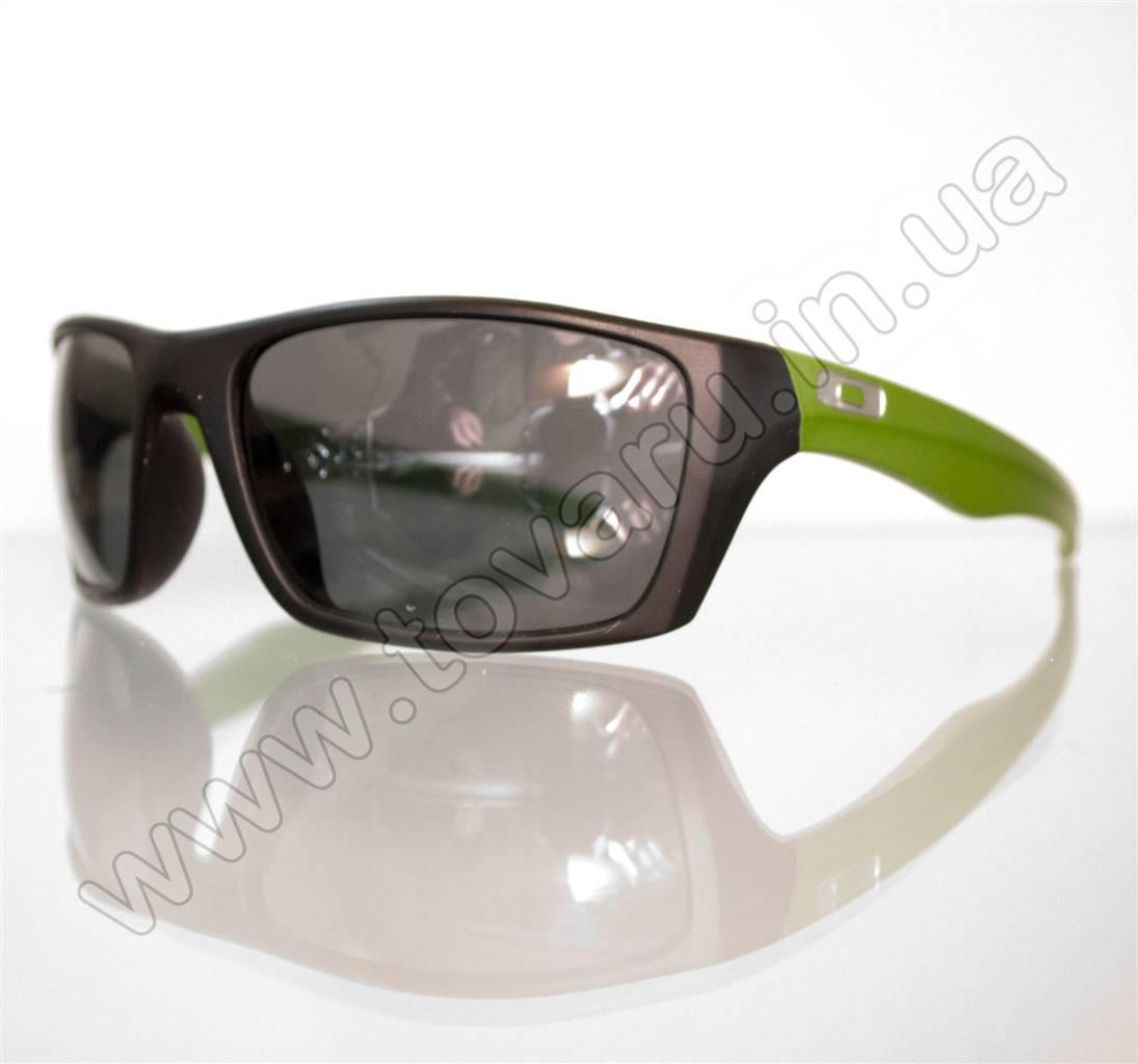 Оптом Очки мужские солнцезащитные спортивные - Черно-салатовые - T81