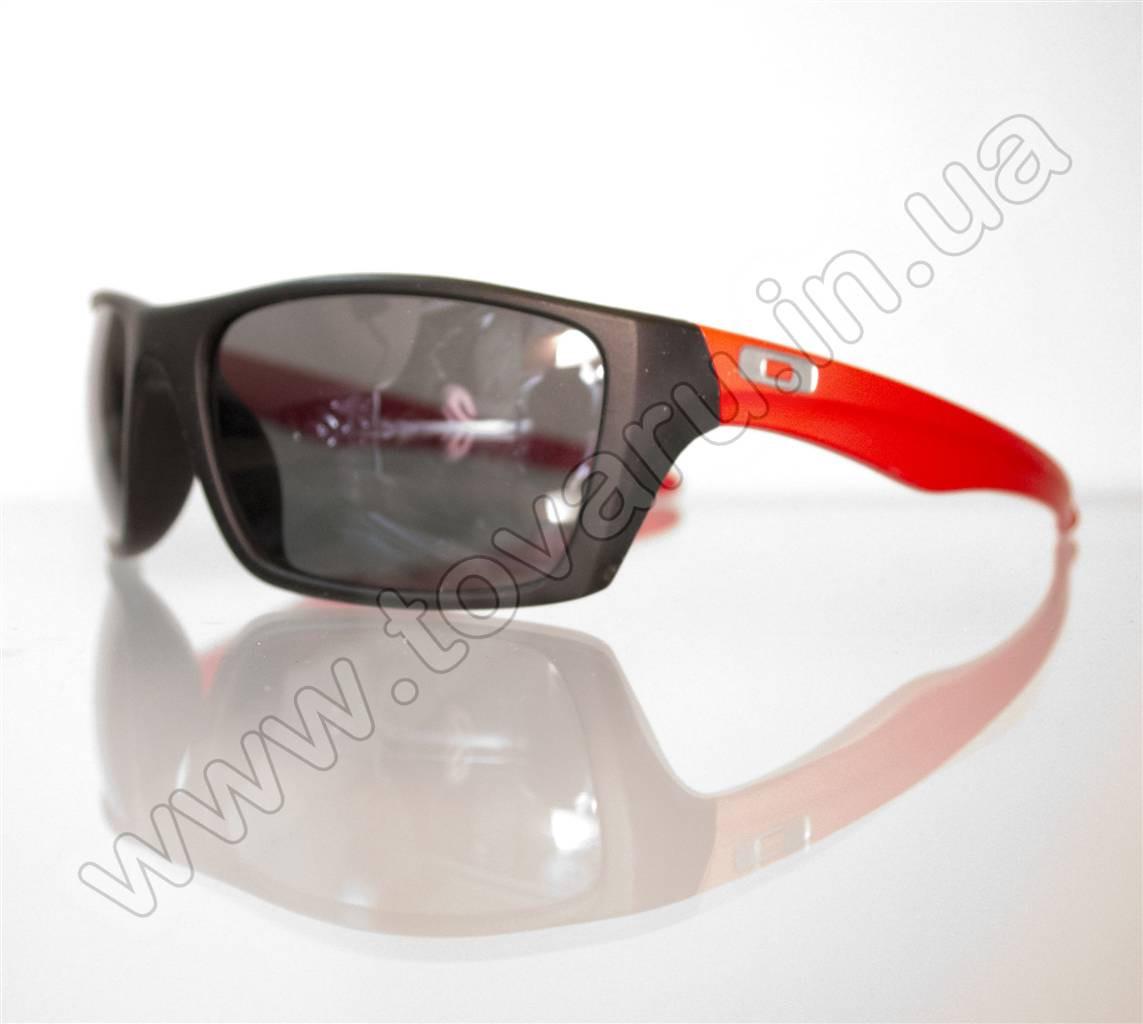 Оптом Очки мужские солнцезащитные спортивные - Черно-красные - T81