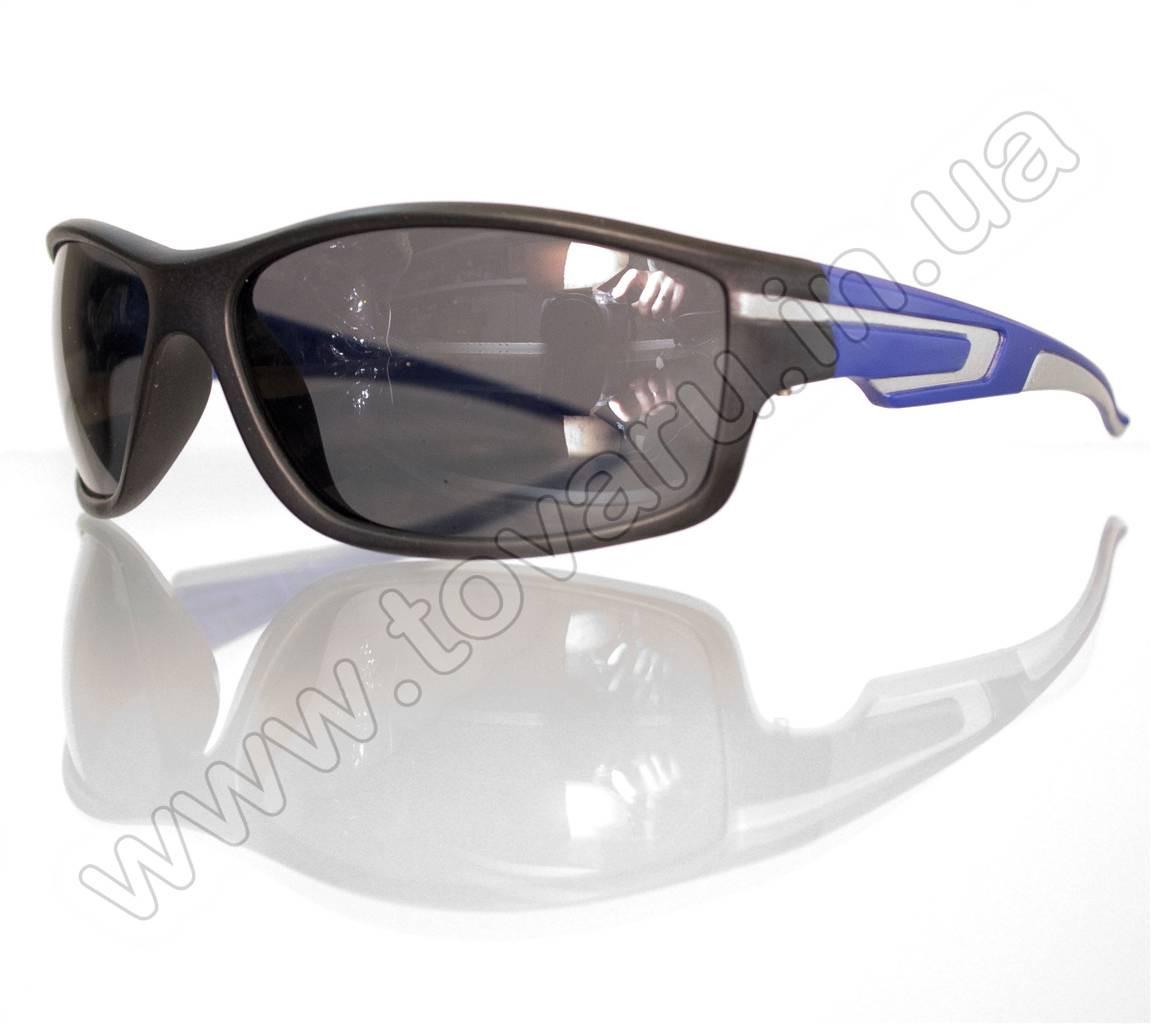 Оптом Очки мужские солнцезащитные спортивные - Черно-синие - 2043