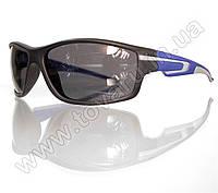 Оптом Очки мужские солнцезащитные спортивные - Черно-синие - 2043, фото 1