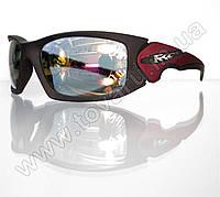 Оптом Очки мужские солнцезащитные спортивные - Черно-красные - 5064, фото 1