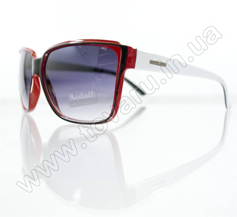 Оптом Очки унисекс солнцезащитные - Красно-черно-белые - 291