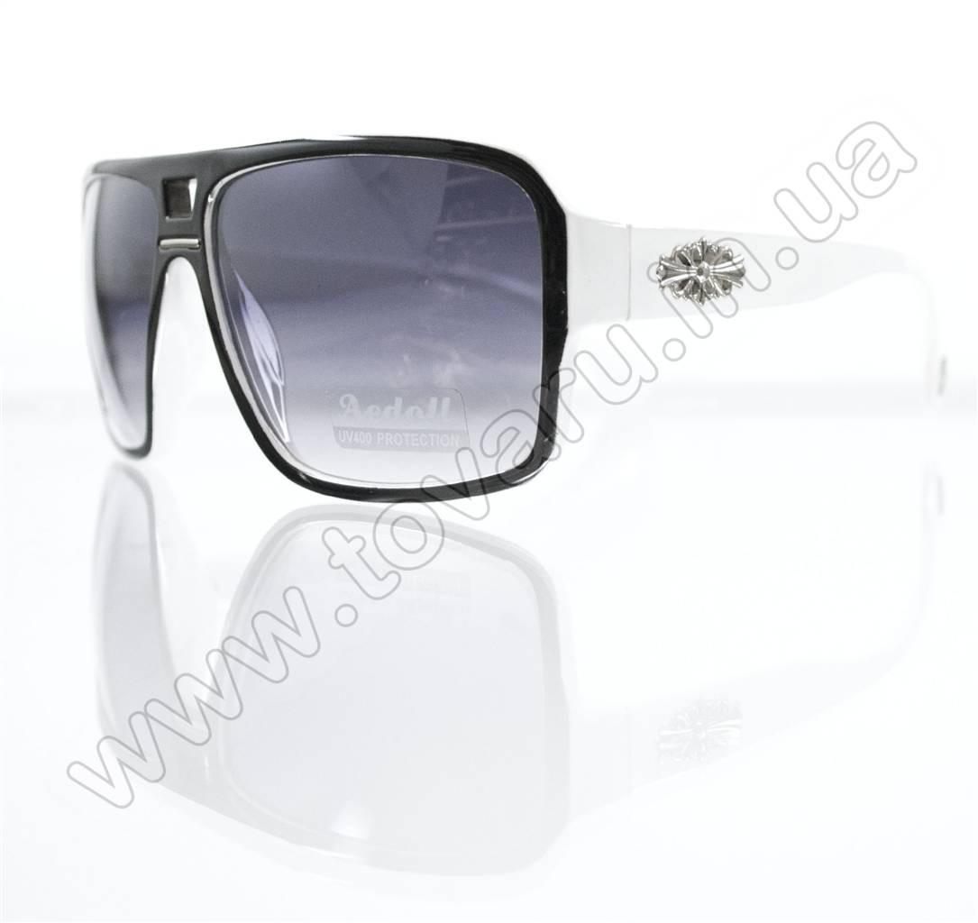 Оптом Очки унисекс солнцезащитные - Черно-белые - 295