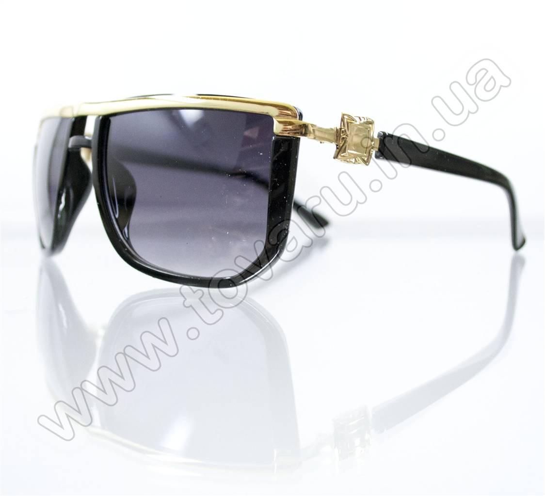 Оптом Очки унисекс солнцезащитные - Черные - 1113