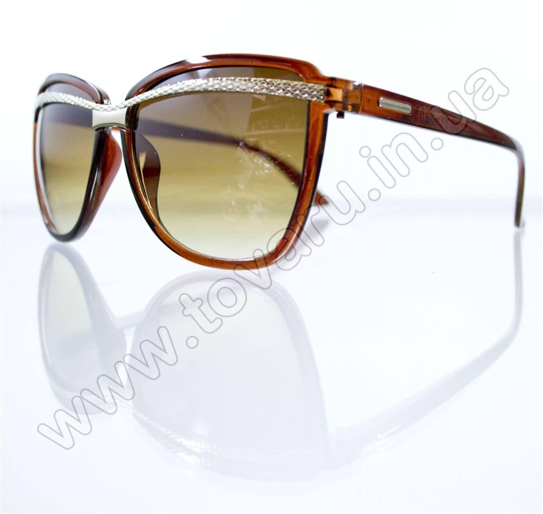 Оптом Очки женские солнцезащитные - Коричневые - 8803